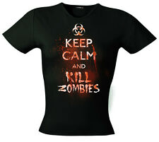 Fantasy Keep Calm And Uccidere Zombie T-Shirt da donna