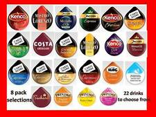 Tassimo Coffee T-Discs (PODs) 8 T-Disc pack.  Min. order  4 x 8 packs .