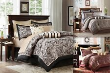 12 PIECE COMFORTER SET / BED IN A BAG - JACQUARD PATTERN - 3 COLORS