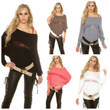 Trendy Pullover Bat Style Con Ricami In Pizzo Floreale