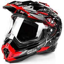 Casco moto Broken Head Road Pirata Enduro rosso lucido #1236 Casco Da Cross
