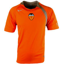 Mens Nike Football Valencia Training T Shirt Orange Short Sleeve Swoosh Logo Top