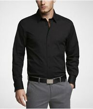 Black Blended Casual Cotton shirt for Mens