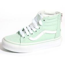 B0042 sneakers bimbo bimba VANS HI ZIP verde acqua unisex shoes kids