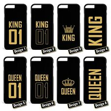 King & Queen / Pärchen Cover Handyhülle * Apple iPhone 5 5S 6 6S Galaxy S5 S6 S7
