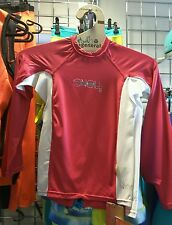 ONeill Youth Skins Rash Vest white pink. Oneill Wetsuits surf Vests age 10 & 12