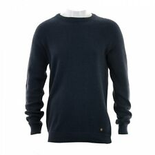 Jack & Jones Mens Persson Crew Rib Knit Sweater (Navy Melan)