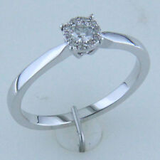 Shiny 925 Silver 1 carat Look Cubic Zirconia Diamond Solitaire Engagement Ring