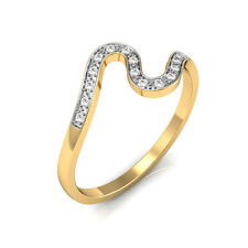 100% Certified Real Natural Diamond Solid 18K Pure Gold Wedding Band Ring