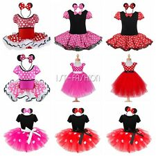 Baby Kinder Mädchen Kleid Minnie Mouse Kostüm Cosplay Party Karneval Kostüm Tütü