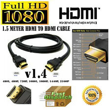 Premium Gold HDMI to HDMI High Speed 1080p LCD HDTV Video Lead Cable 3D 0.5m-20m