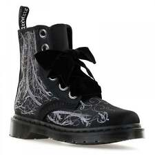 Dr. Martens Womens Pascal Satin Boots (Black/Silver)