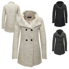 Only Damen Wollmantel Übergangs & Wintermantel Kurzmantel  Wolljacke Parka NEU