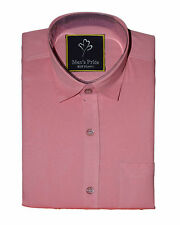 Pink Cotton casual shirt for Mens