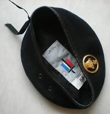 BERET MILITAIRE ARMEE FRANCAISE TRANSMISSIONS + INSIGNE