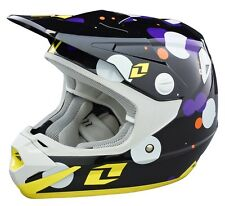 ONE INDUSTRIES YOUTH ATOM HELMET FIZZLE BLACK WITH MIPS KIDS JUNIOR MOTOCROSS MX