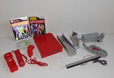 Nintendo Wii Red Console PAL with 3 Games Bundle RVL-001 (Just Dance & Wii Fit)