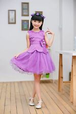 Flower Designer Sleeveless Princess Frock Dress for Girls Kids Best Quality
