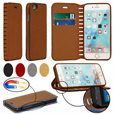 Genuine HandMade Real Leather Gorilla Wallet Flip Stand Case Cover Mobile Phones