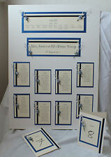 WEDDING STATIONERY 90 GUESTS - TABLE PLAN, TABLE NUMBERS, PLACE CARDS PEARL ROSE