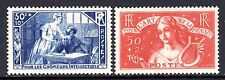 (269)     France 1935 Unemployed Intellectuals Relief Fund Set SG532-33 LM/Mint