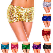 Women's Sexy Metallic Sequins Clubwear Party Stretch Shorts Hot Pants Boyshorts