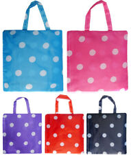 Fashion Womens Ladies Polka Dots Print Nylon Tote Handbag Shopper Bag Summer Bea