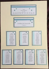HANDCRAFTED WEDDING TABLE PLAN, TABLE NUMBERS & PLACE CARDS FOR 80 GUESTS HEART