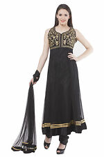 Fasense Ethnic Wear Net Long Anarkali Salwar Suit Churidar VG037 B