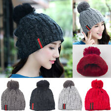 Plain Beanie Knit Ski Cap Skull Hat warm winter cuff NEW Beanies Hats Unisex Men