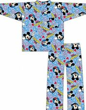 MICKEY MOUSE WINCEYETTE Set Pijama Ropa Para Dormir 12-18m / 18-24m / 2-3 / 3-4