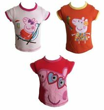 OFFICIAL PEPPA PIG Ragazze T-Shirt / Top 1 2 3 4 5 6 Anni NUOVO