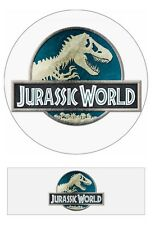 Jurassic World Park Logo Edible Cake toppers 7 Inch cupcakes Precut