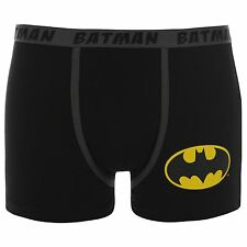 DC Comics Batman Boxer Shorts Underwear Mens Black Trunks Pants