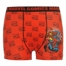 Marvel Comics Boxer Shorts Underwear Juniors Red Trunks Pants