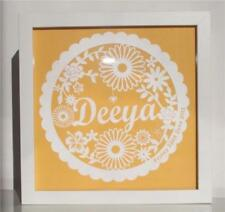 Personalised Frame New baby Paper Cut Gift Present Girl Christening Newborn