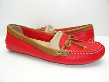 Women's Sperry Top-Sider katharine Red/Cognac Driver Moc Loafers Boat Shoes