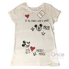 PRIMARK ADULT Ladies DISNEY It Started With a Mouse Slogan MICKEY MOUSE TShirt