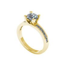 .50ct Solitaire Round Cut Ring with Accents Certified Diamond 18ct Gold 114