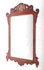 Antique Wall Mirror Chippendale Mahogany Long Mirror Hall 19th Century Eagle