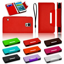 NEW LEATHER FLIP WALLET CASE COVER FOR SAMSUNG GALAXY S5 S5 MINI