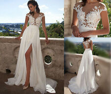 White Lace Applique Evening Cocktail Prom Gowns Party Formal Cocktail Dresses