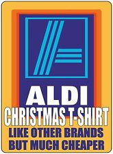 FUNNY SUPERMARKET CHRISTMAS VALUE T SHIRT PARODY  LIKE OTHER BRANDS BUT CHEAPER