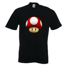 ROSSO COLORE FUNGO da Super Mario World/Kingdom/Kart. Parodia T-shirt Nintendo