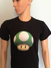 VERDE COLORE FUNGO da Super Mario World/Kingdom/Kart. Parodia T-shirt Nintendo