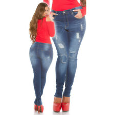 Blue Jeans Curvy Over Size Koucla Used Look In Varie Taglie