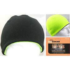 Men's Hi Vis Thermal Fleece Beanie Hat,3M Thinsulate Hats Neon In Yellow/Black