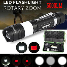 X800 5000LM Zoomable shadowhawk XML T6 LED Military Flashlight Torch Lamp
