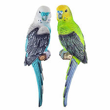 Wall Mountable Parakeet Bird Garden Ornaments Two Designs Available