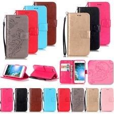 -KMYB Embossing Leather Case Cover For Apple iPhone 7 6S 6 Plus 5S 5C 4S Touch 5